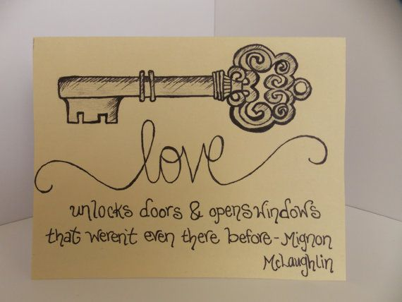 I Love You Love Quote And Antique Key By Happydoodlesbykatie 400