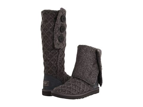 Womens Boots UGG Lattice Cardy Charcoal