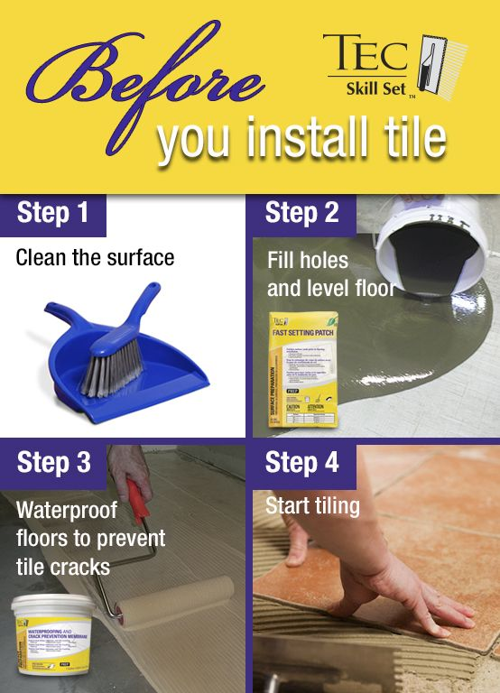 FREE resource guide: Steps to take before you install tile ...