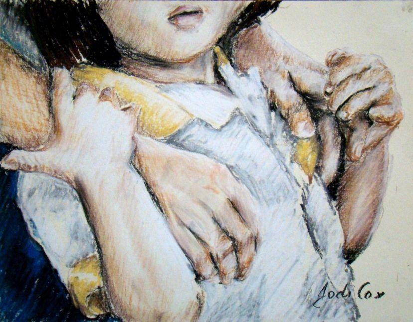 Chalk Pastel Child Drawing Father Mother Nurture Parent