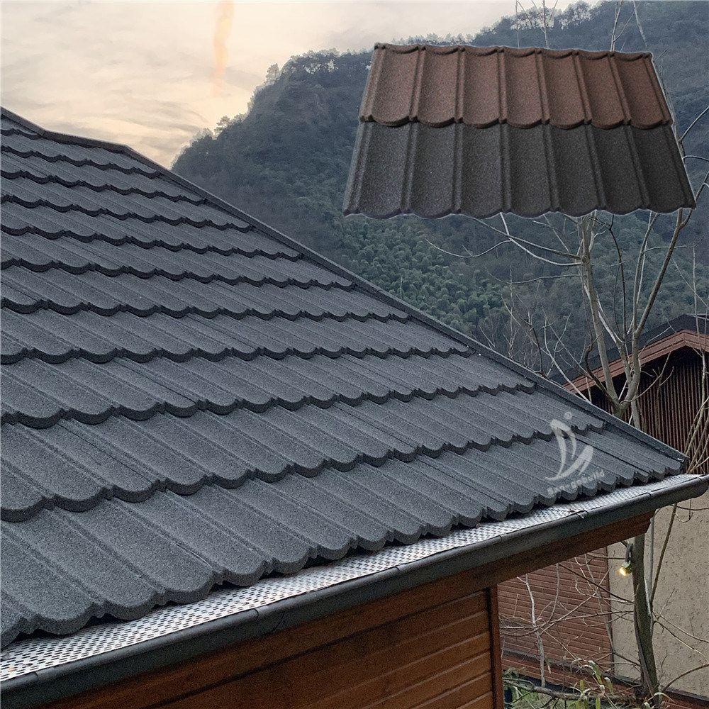 Hot Item Decorative Classic Type Bond Type Stone Coated Metal Villa Roof Tile Building Construction Material Building Construction Materials Metal Roof Tiles Metal Shingle Roof