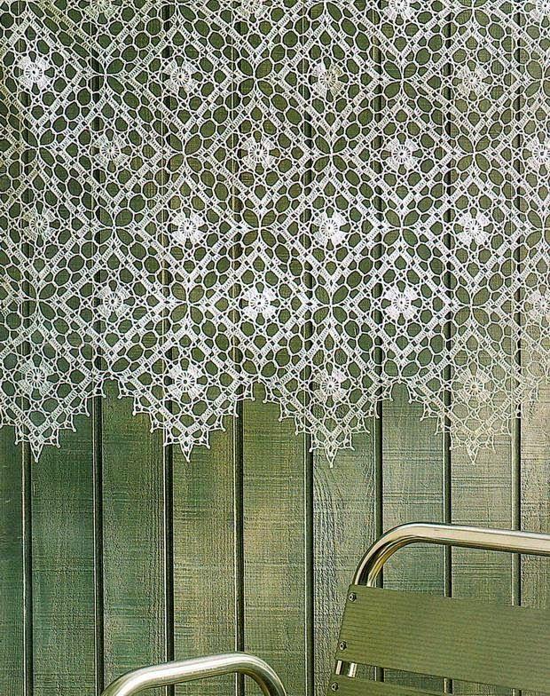 Free crochet curtain pattern | crocheted apartment | Crochet house | Crochet decoration | crochet curtain