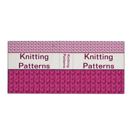 Customizable Knitting Pattern Binder To Keep Your Patterns In.
