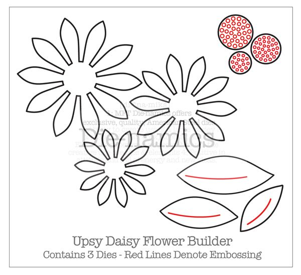 Paper daisy flower templates daisy flower cut out template for Daisy cut out template