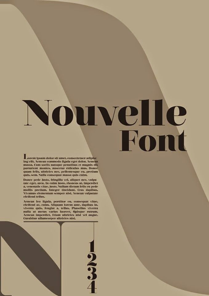 Nouvelle Font Typography Poster