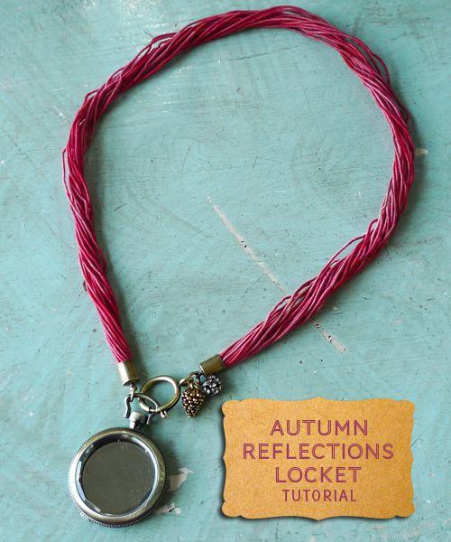 Autumn Reflections Locket Necklace Tutorial