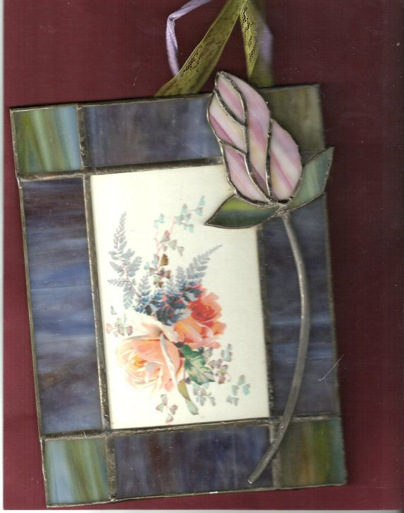 Items similar to postcard 1913 in a stained glass frame. on Etsy