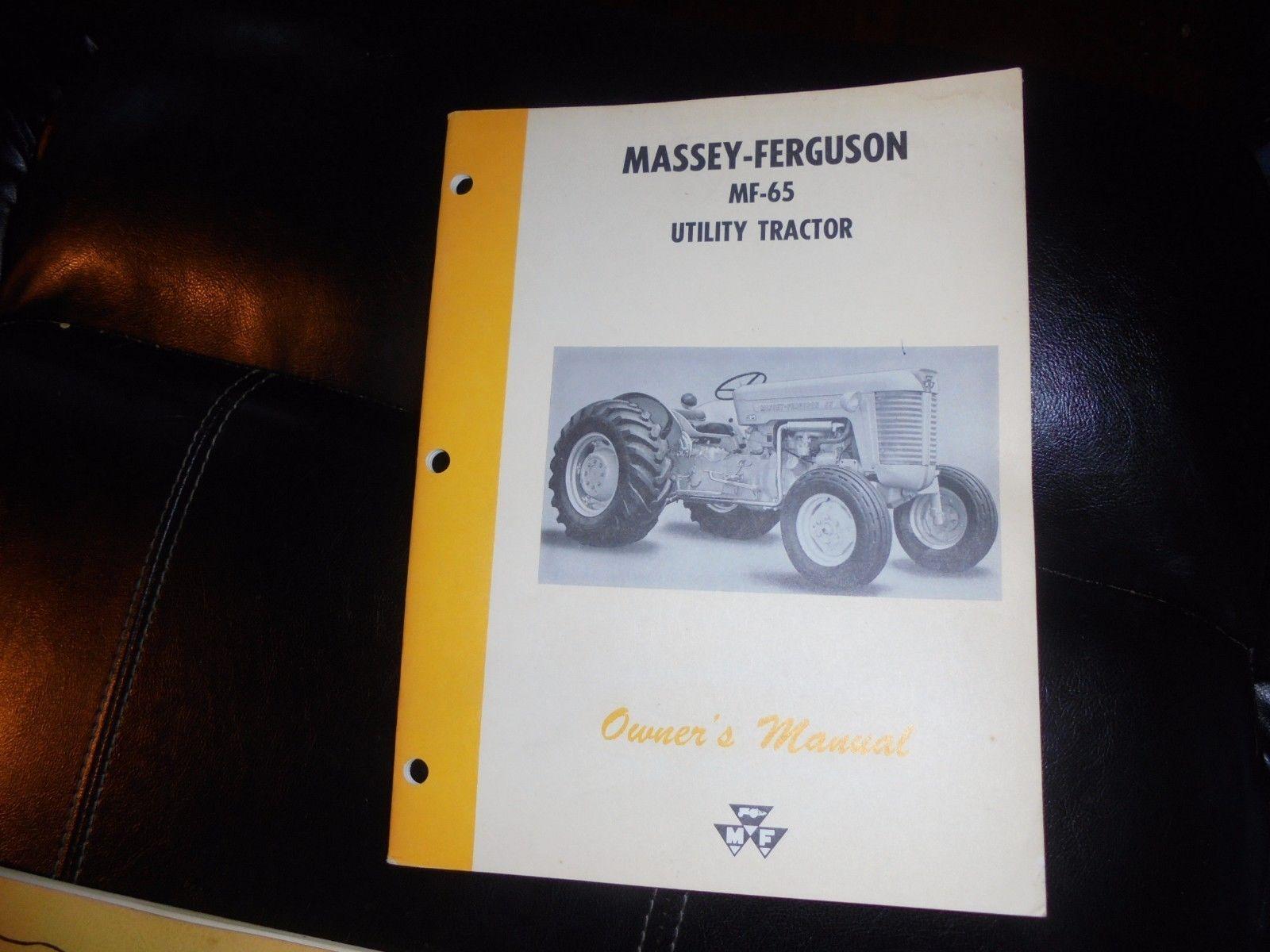 Massey Ferguson MF-65 UTILITY Tractor Operators Manual 1965