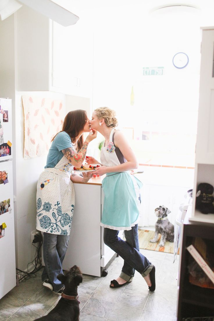 Lesbian sex in the kitchen pic 22