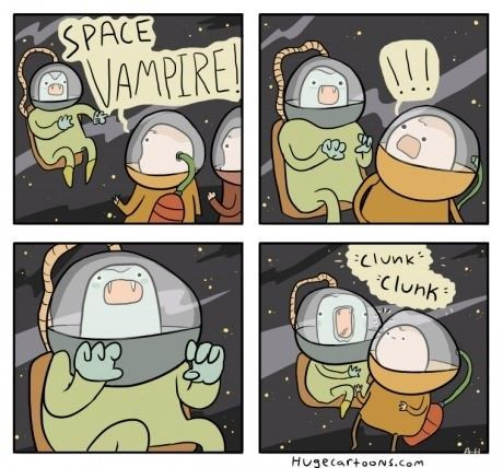 In Space No One Can Hear You Scream Funny Images Vampire Comic Funny Pictures