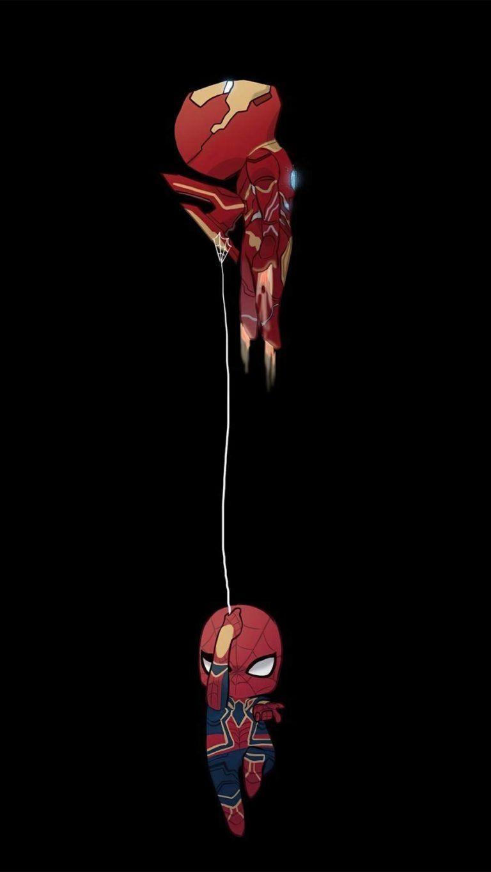 Iron Man and Spiderman Minimal - iPhone ...