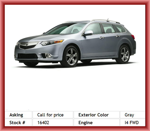 2014 Acura TSX Sport Wagon Base W/Tech Wagon Delay-Off