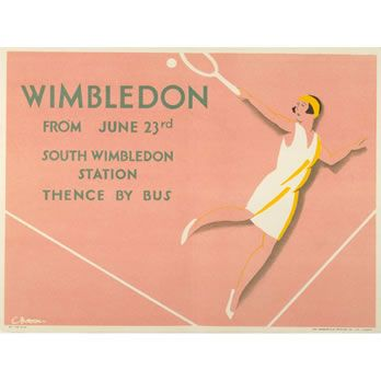 Tennis Sport Wimbledon Championship London England Vintage Poster Repo FREE S//H