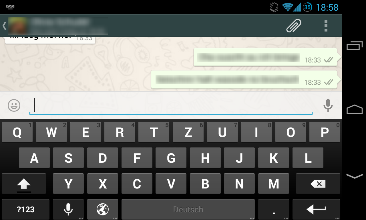 EGD IA1 Screenshot of a WhatsApp conversation on an Android Phone (Used as reference; Sidebar used in Layers)