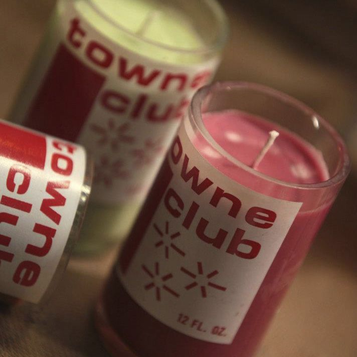 Candles Made From Upcycled Repurposed Towne Club Bottles 19 50