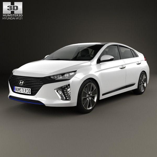 3d Model Of Hyundai Ioniq 2017 Hyundai Car 3d Model 3d Model