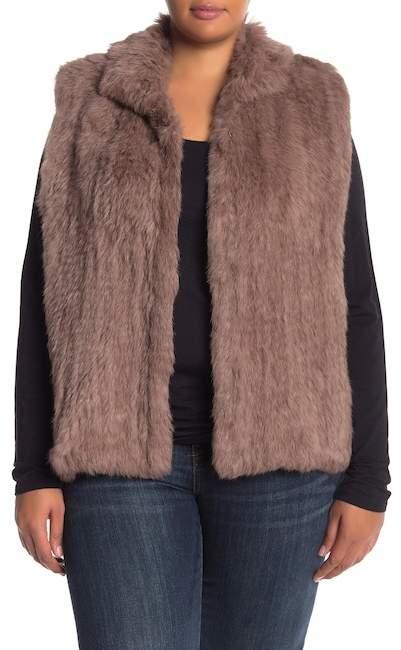 81b6c88fa Genuine Dyed Rabbit Fur Vest (Plus Size) | Products | Rabbit fur ...
