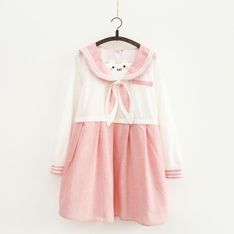 dcafc82c4cf2c6 Pink Navy Rabbit Ear Dress SE11134 When shopping, use this coupon:  cassie932005