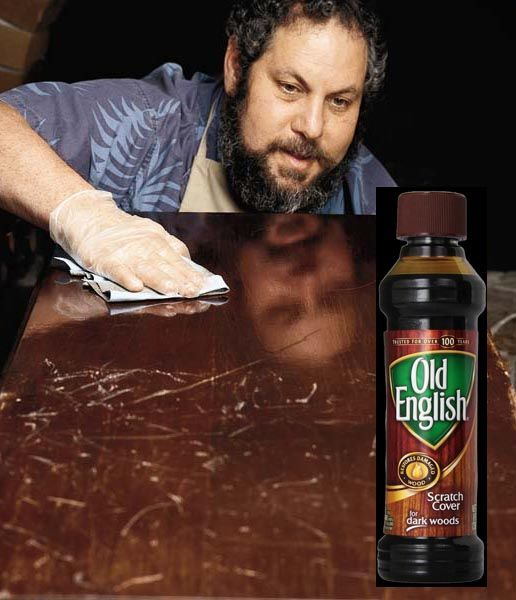Wood Repair Scratched, Old English 8 Ounce Dark Wood Furniture Polish And Scratch Cover