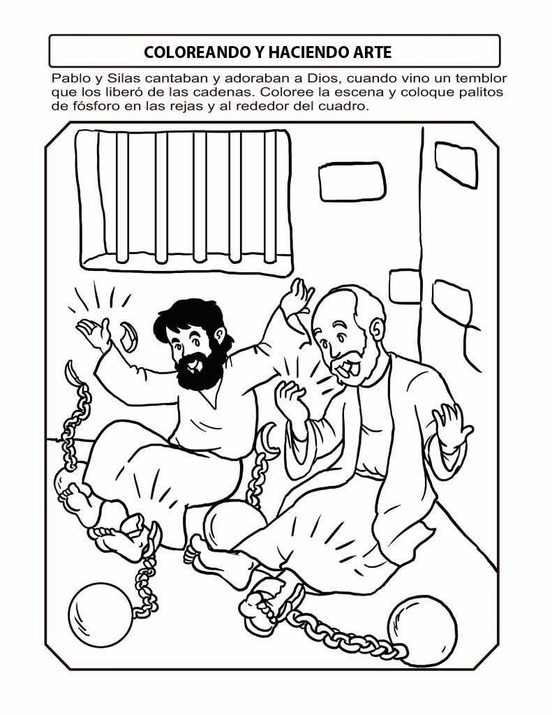 Pablo y Silas | MANUALIDADES | Pinterest | Sunday school, Bible ...