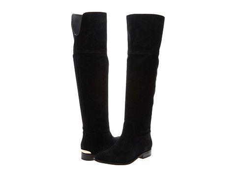 MICHAEL Michael Kors Regina Flat Boot Black Sport Suede