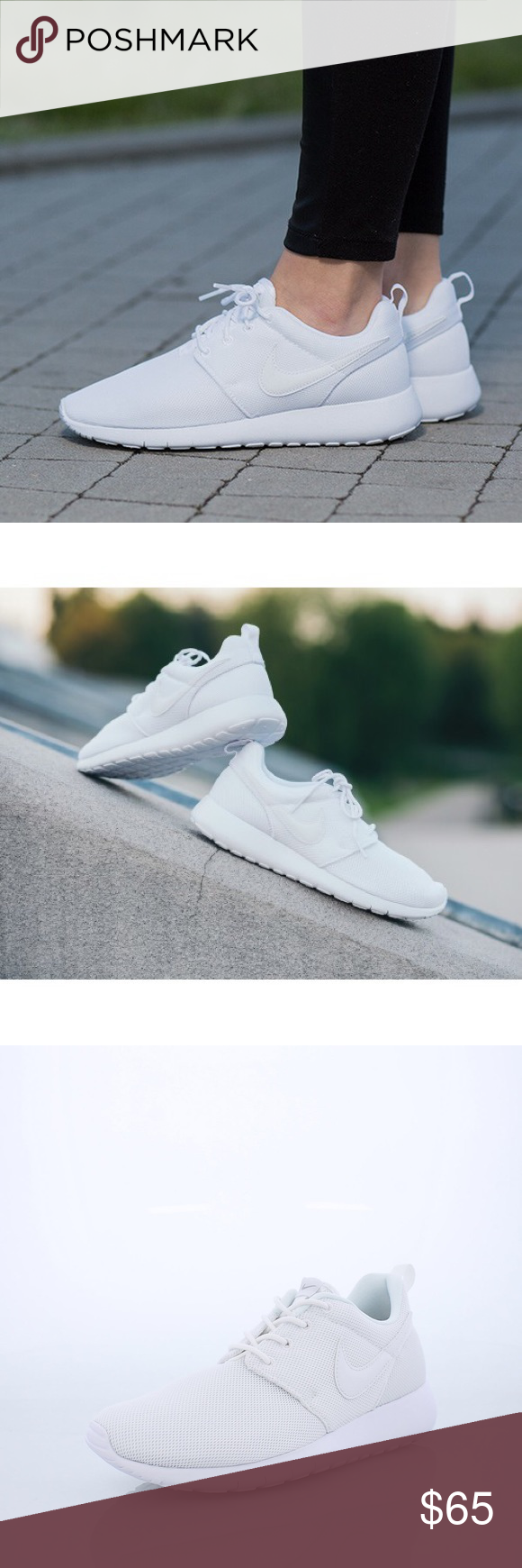 e2ed9deeb679 Nike roshe one all white shoes women s new Brand new without box ...