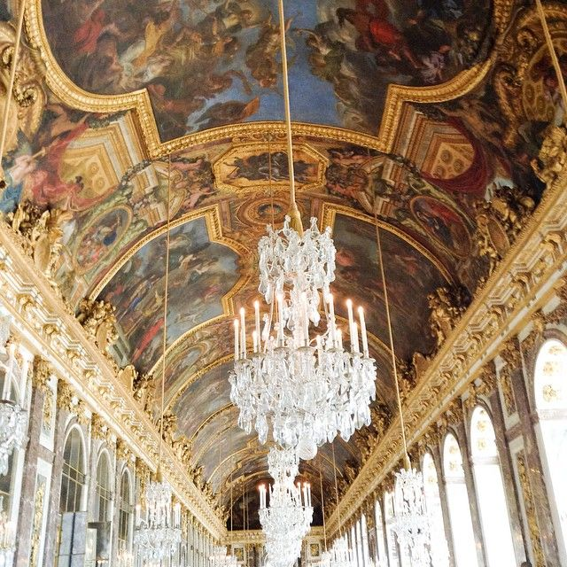 The Hall of Mirrors. Versailles, France.