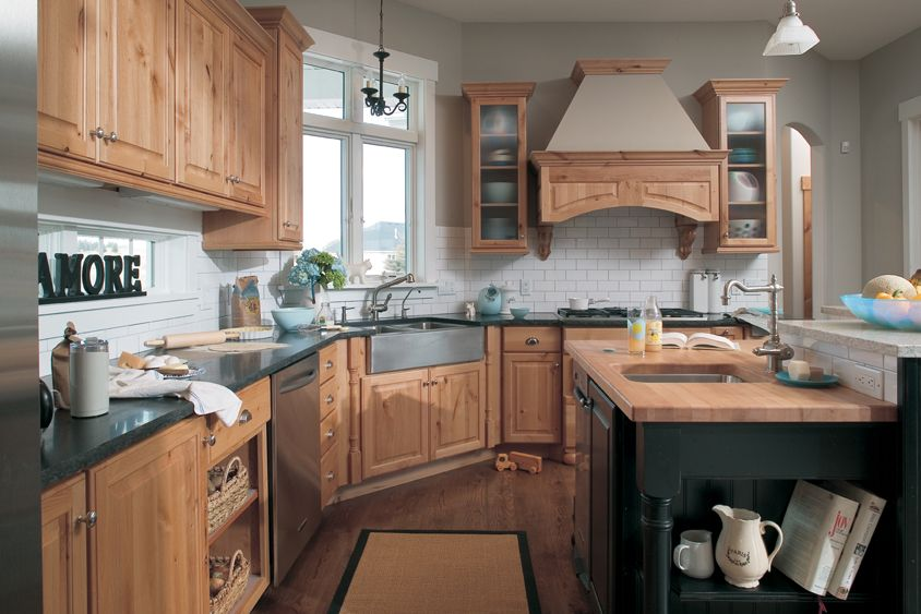 Dura Supreme Cabinets, Knotty Alder, Natural Finish, With