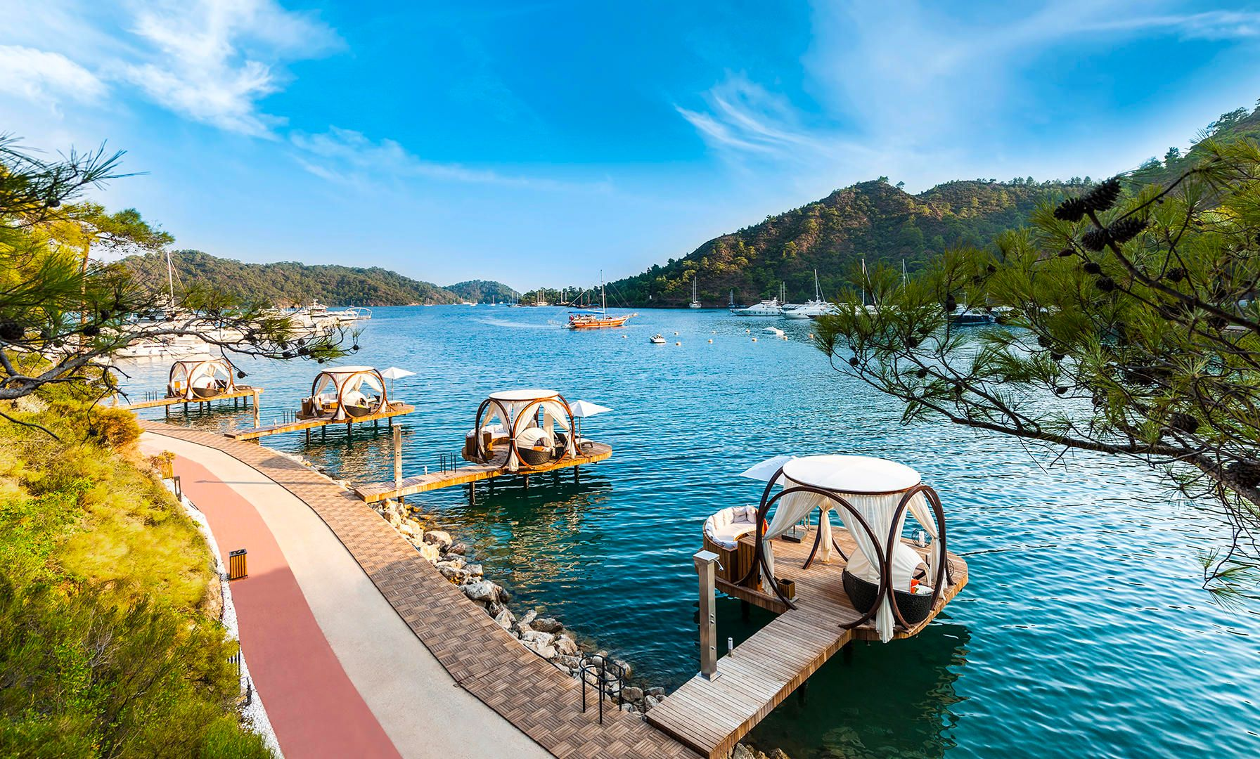 Gocek Is A Small Town In Fethiye District In Mugla Province