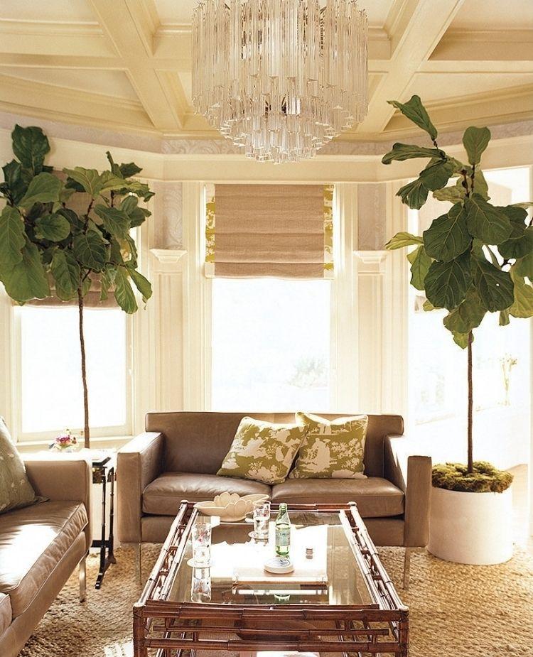 Nach Feng Shui Wohnzimmer Einrichten   Kronleuchter Couch Pflanzen Fenster Kissen