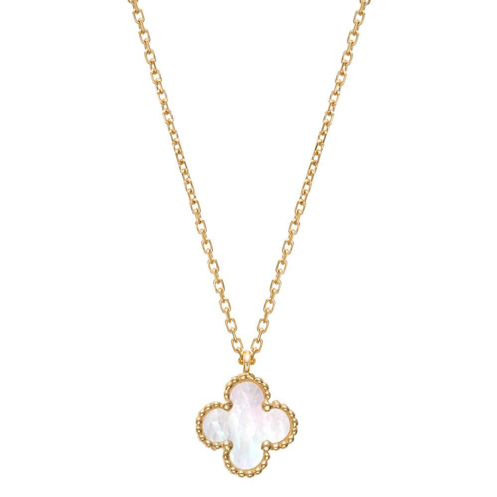 7ecb663474fc Van Cleef   Arpels Sweet Alhambra Clover Pendant on Chain
