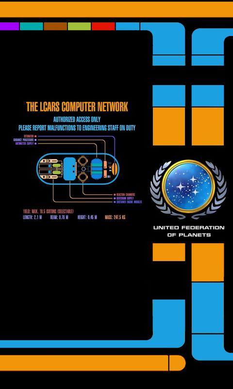 LCARS Phone Wallpaper Star trek wallpaper, Iphone