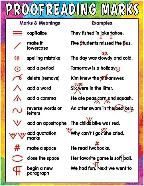 Proofreading Marks For Essentials Editing Exercises.