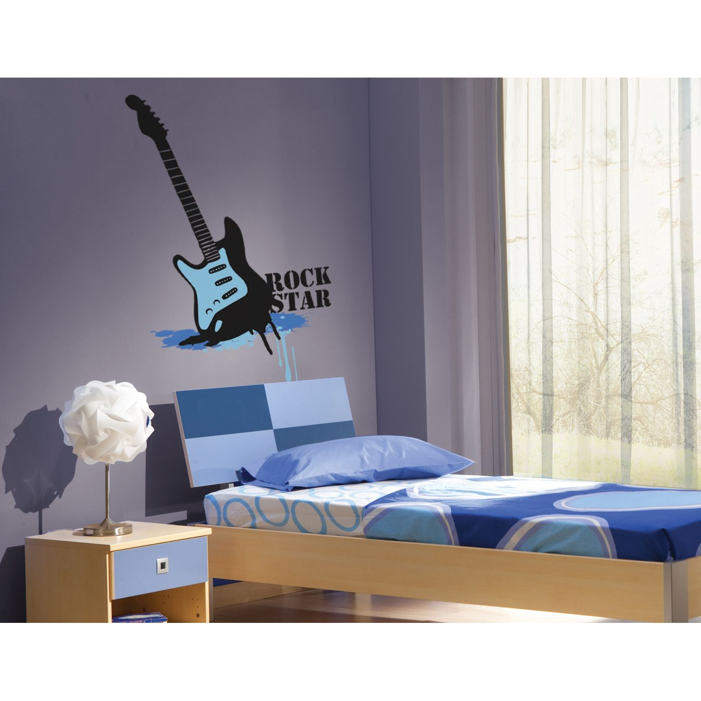 wall decals for teens rockstar theme wall decal stickers bedroom rh pinterest com