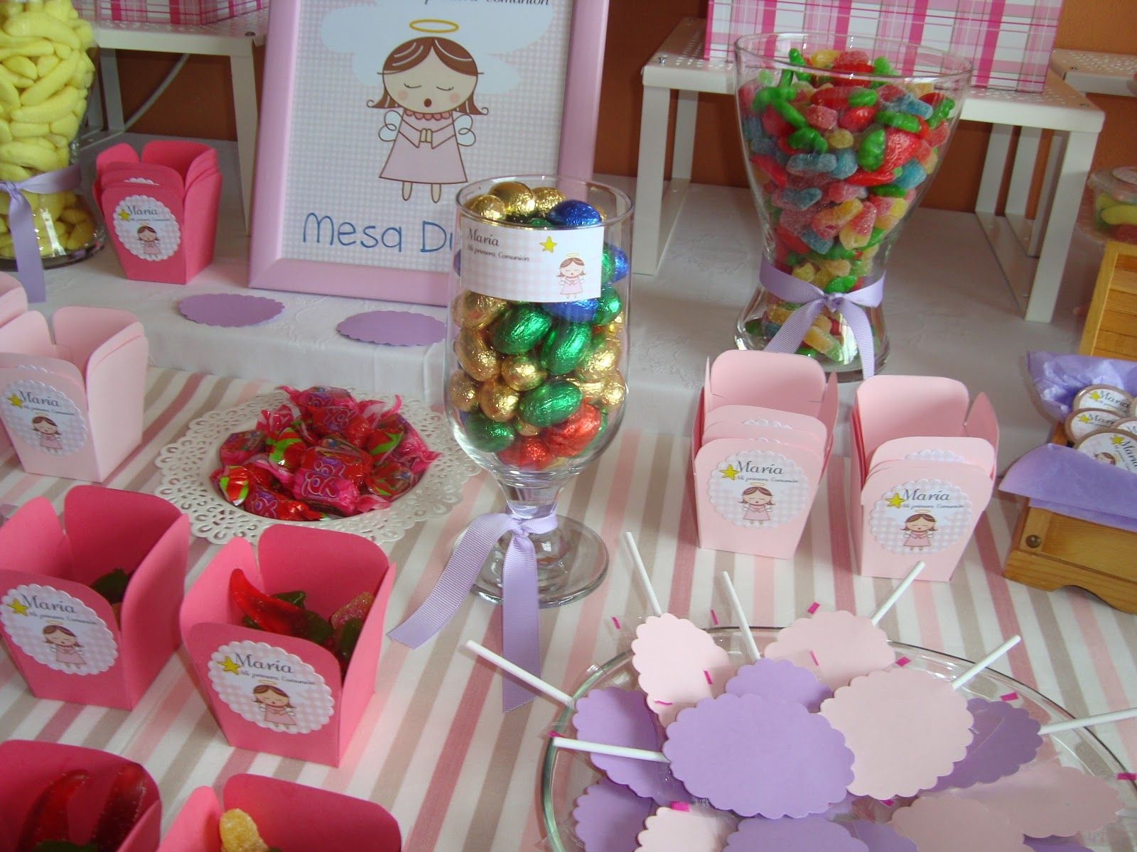 Mesa chuches comunion especial primera comuni n - Mesas para comuniones ...