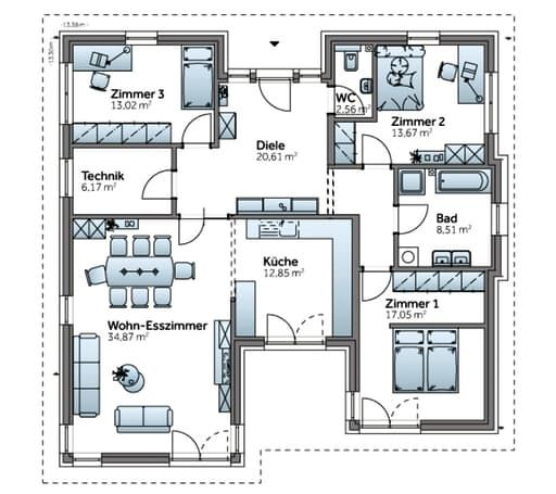 Bungalow AT129 floor_plans 0 #apartmentfloorplans