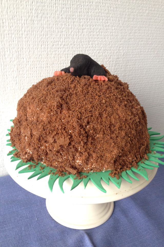 Mole Cake The Mole Is Made Of Marzipan Paste The Hill Of Banana