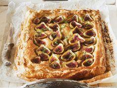 Ricotta-Feigen-Kuchen mit Mandeln und Honig | Zeit: 35 Min. | http://eatsmarter.de/rezepte/ricotta-feigen-kuchen-mit-mandeln-und-honig