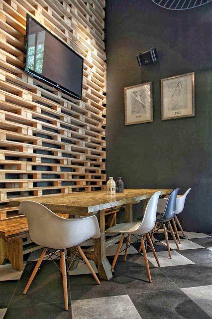 60 Idees Pour Recycler Des Palettes Interieur De Restaurant Interieurs Cafe Idees De Design D Interieur
