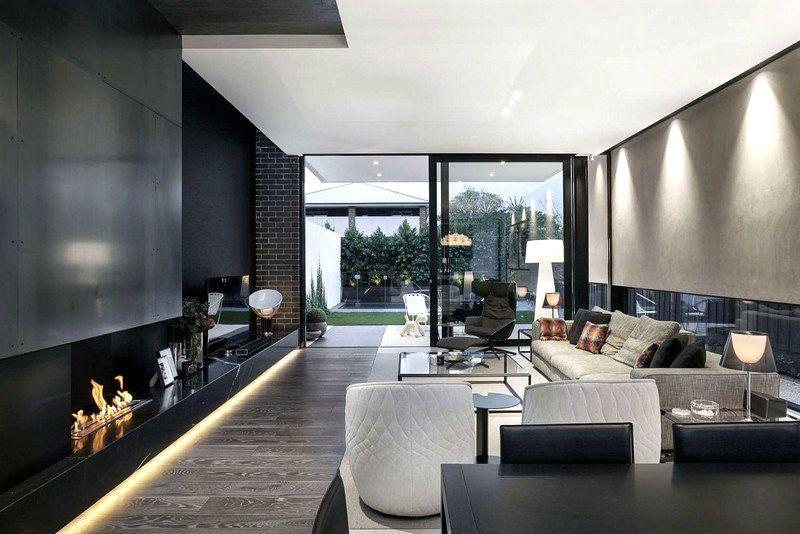 Interieur Maison Moderne Noir Blanc Avec La D Co Et Cr E Des ...