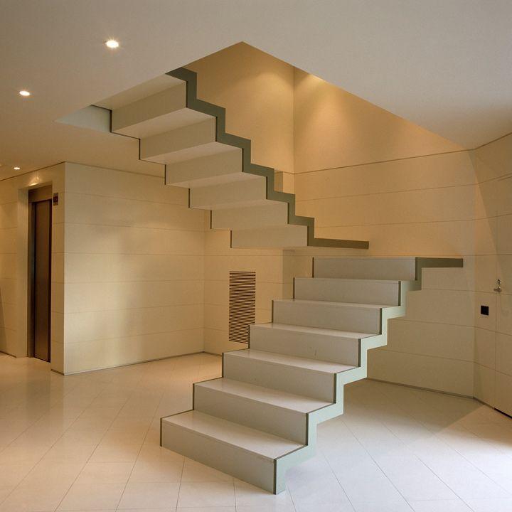 Resultado de imagen de escalera volada dos tramos staircases pinterest staircases stair - Escalera dos tramos ...