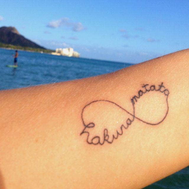 My Recovery Tattoo I Refuse To Sink I Wish To Fly: Hakuna Matata Infinity Tattoo