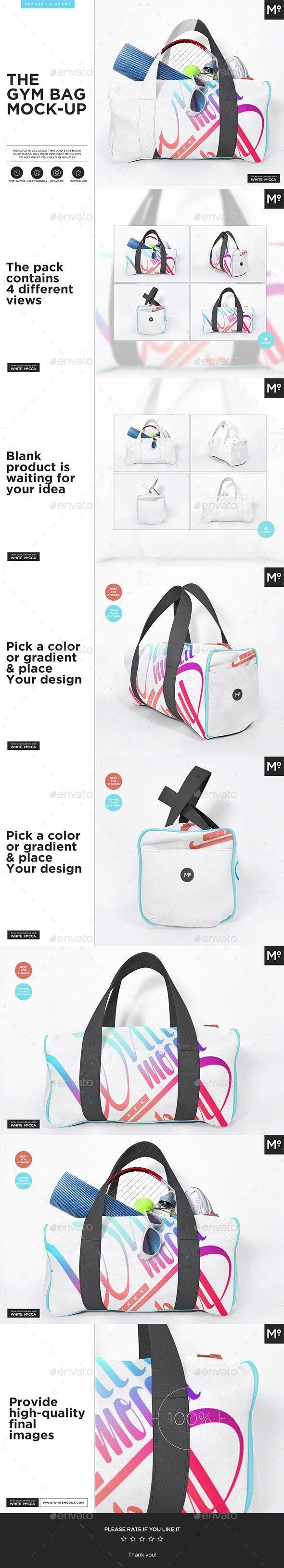 Download The Gym Bag Mock Up Bag Mockup Clothing Mockup Mockup Design