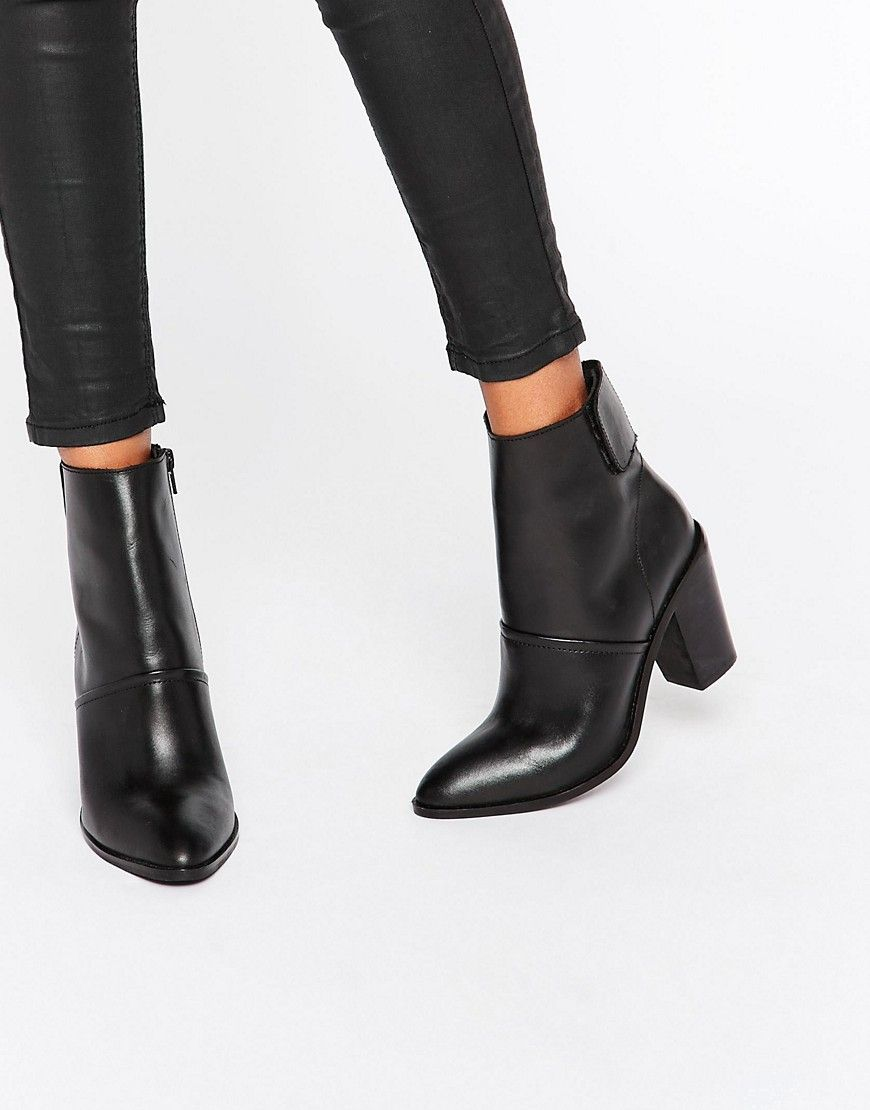 590888a131a ASOS EFFIE Leather Ankle Boots
