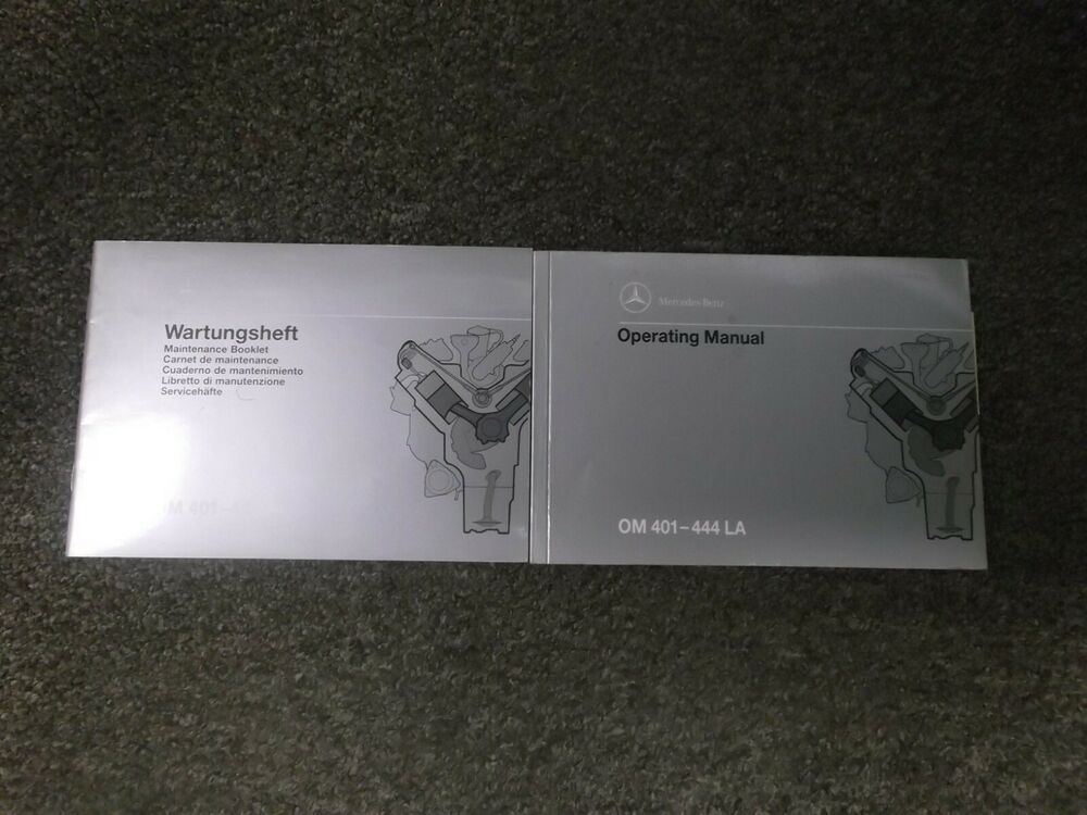 1999-2001 mercedes benz om401la om402la engine owner operator manual 2000  truck parts, manual