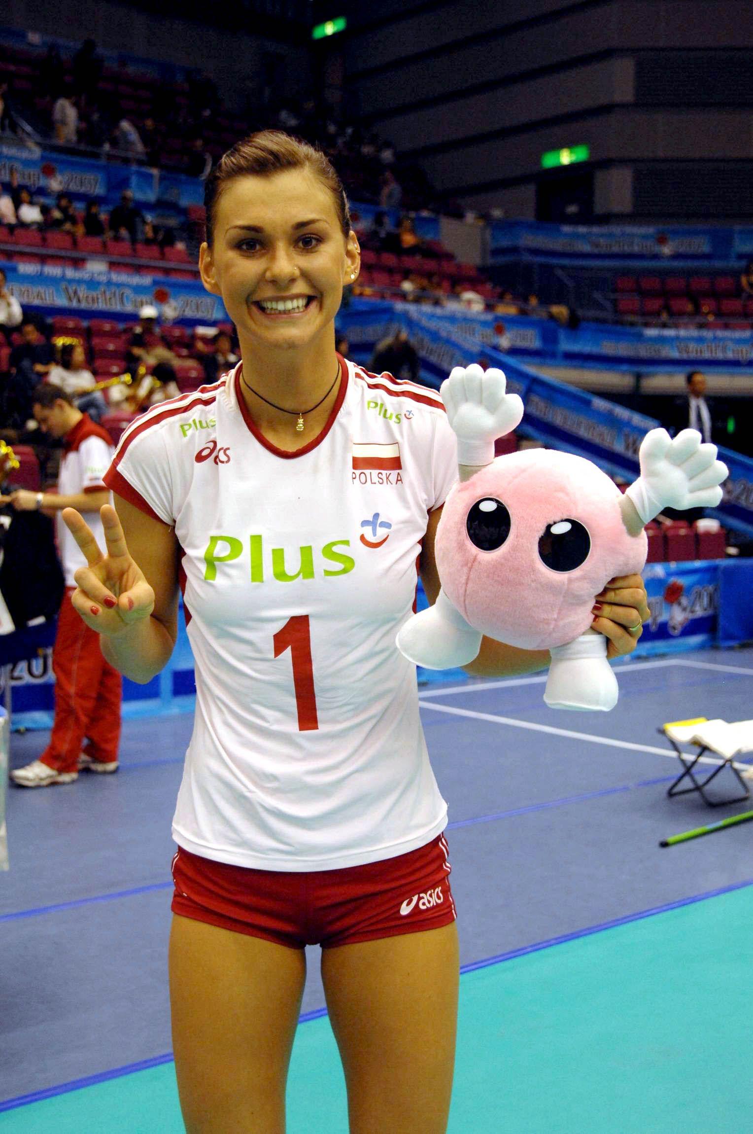 Skowronska Dolata Katarzyna Pol Best Player With Mascotte Best Player Women Volleyball Volleyball Players