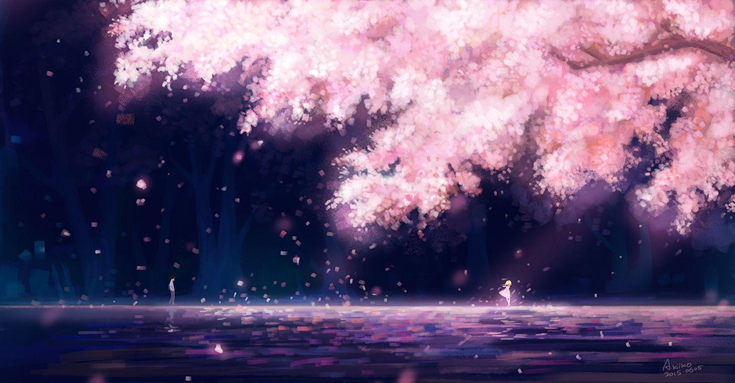 Anime Your Lie In April Kousei Arima Kaori Miyazono Wallpaper Anime Scenery Anime Scenery Wallpaper Fantasy Landscape