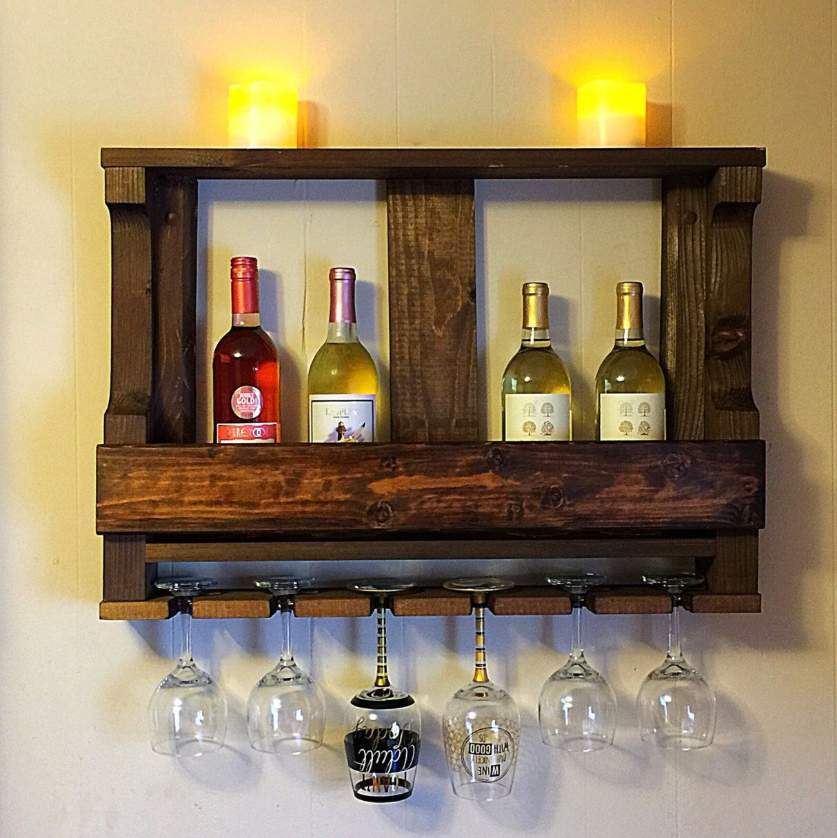 diy wall rack hanging wine type mounted glass