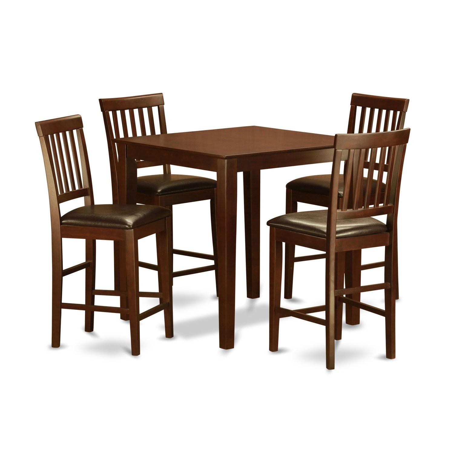 5 piece Counter Height Table Set Table and 4 Kitchen Chairs