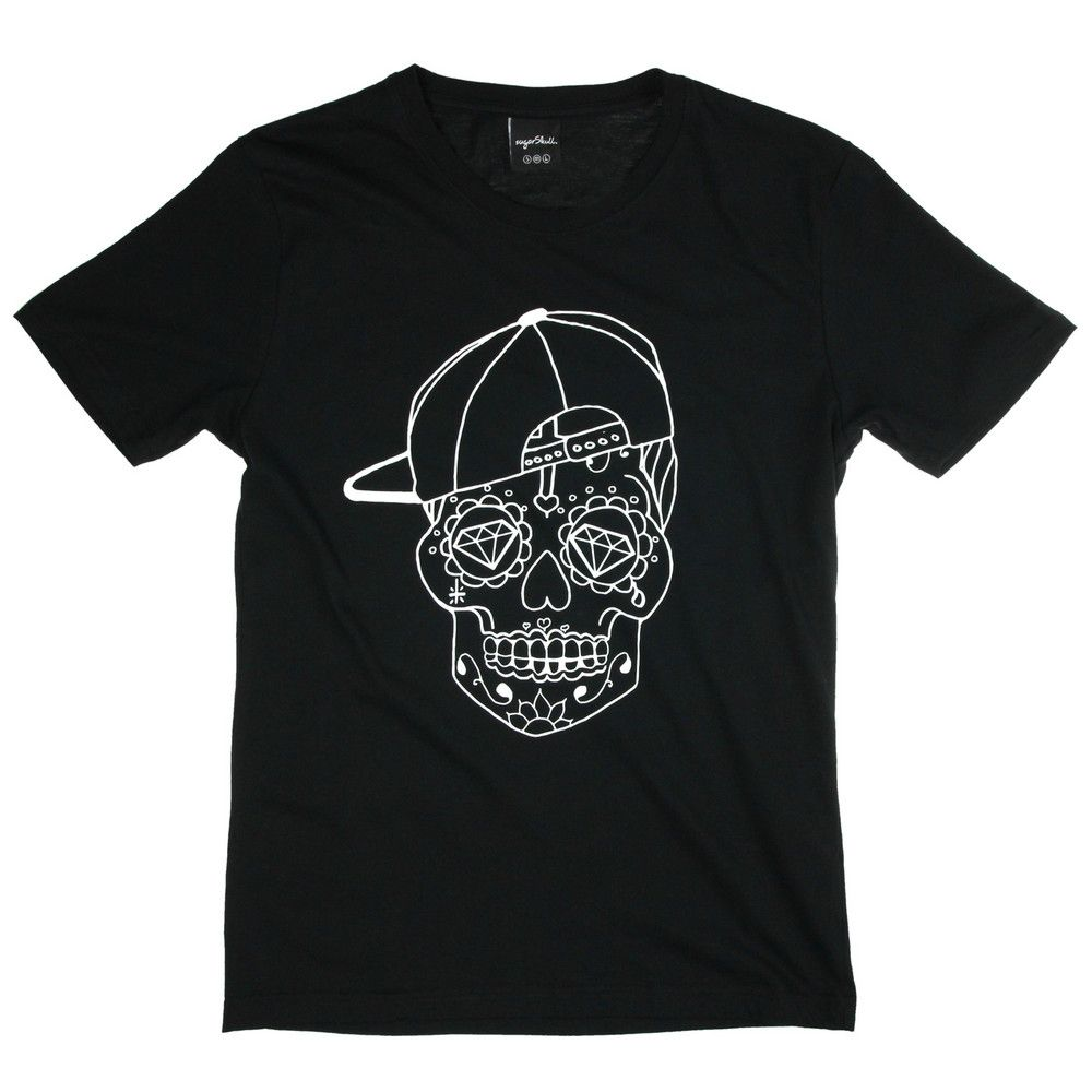 Sugarskull Skull Cap T-Shirt / Black